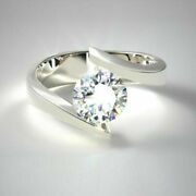 0.50 Ct Real Diamond Wedding Band Fine 14k White Gold Solitaire Ring Size 6 7 8