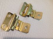 Partial Wrap Cabinet Hinge 3/8 Inset 3/8 Overlay Bright Brass, Set Of 2, Used