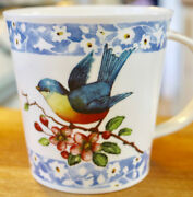 Susan Branch Fine Bone China Bluebird Mug Cup New Sold Out For Coffee Tea