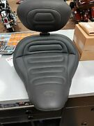 Used Black Mustang Seat For 2013-2017 Harley Davidson Breakout.