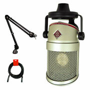 Neumann Bcm-104 Condenser Broadcast Microphone W/ Rode Psa1 Boom Arm And Cable Kit