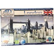 4d Cityscape Time Puzzle London 1230 Pc 8+ Nib New Glow In Dark Sealed