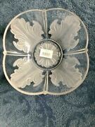 Mikasa Celebrations Venetian Flair Frosted Glass 12 Bowl Japan