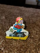 Vintage J.chein And Co. Tin Litho Skier For Wind-up Ski Ride Roller Coaster 2