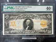 Fr.1186 1906 20 Gold Certificate Extremely Fine 40 Epq Pmg