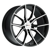 Cray Spider 20x9 5x120 Offset 38 Gloss Black With Mirror Cut Face Qty Of 4