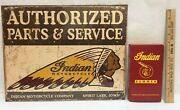 Indian Summer Vhs Tape History Original American Motorcycle W/ Metal Sign