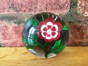 Fabulous Rare 1850 Antique Baccarat Single Primrose French Paperweight