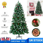 Christmas Tree Artificial Green Xmas Tree Spruce 4/5/6/7/8ft With Stand Decor Uk