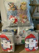 Pottery Barn Kids Organic Paw Patrol Full Queen Quilt 2 Sham Puppies Dogs Pillow