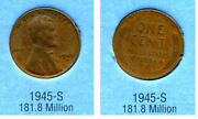 1945 S Wheat Penny Key Date Us Circulated One Lincoln Rare 1 Cent U.s Coin 1159