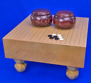 Japanese Go Game Go Board With 4legs Made In Shin-katsura New From Japan Wooden