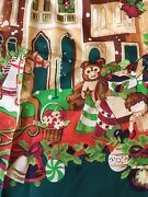 Vintage Echo Nordstrom Silk Scarf Christmas In The City Toys Made In Japan Euc