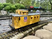 Delton 4275 Union Pacific Long Caboose-metal Wheels G Scale Needs Couplers