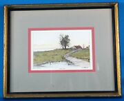 E Pearle River Road Original Etching Signed Ethan Allen Art Collection