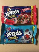 Nerds Gummy Clusters Chewy Candy, Share Pouch Bag Lot Of 2 3oz Each