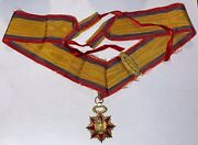Rare Us Military Order Of Foreign Wars Gold Medal Past Commander Anson Robinson