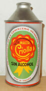 Criolla Malta Cone Top Beer Can From Venezuela 35cl Empty Rolled