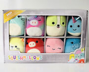 Squishmallows Christmas Ornaments Holiday Bright Squad 2021 Plush Toy 8 Pack