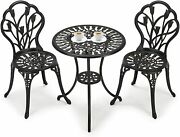 Outdoor Bistro Set Table And Chairs Patio Furniture Antique Copper Finish Bronze