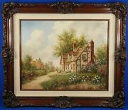Dennis Patrick Lewan Origianl Oil Painting A Country Home In England 1988