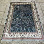Yilong 4and039x6and039 Blue Handmade Silk Area Rug Antistatic Home Interior Carpet H280b