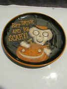 Yankee Candle Halloween Boney Bunch Platter 10 Inch 2010 'eat Drink And Be Scary'