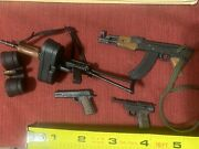 Vintage 1990s Lot Of Toy Machine Guns And Pistols Straight Out Of Package