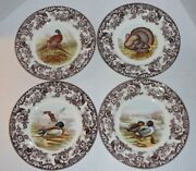 4 Spode Woodland Assorted Dinner Plates - Made In England - Set Of 4 - Nwt