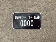 U.s. Forces In South Korea - Sample - Motorcycle - License Plate