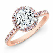 1.15 Ct Real Diamond Wedding Engagement Rings Solid 14k Rose Gold Ring Size 7 6
