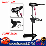 80lbs Electric Outboard Trolling Motor Fishing Boat Engine Brush Motor 12v 800w