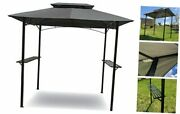 Grilling Gazebo 8'x 5' W/ Led Lights   Barbecue Grill Canopy Tent W/air Vent