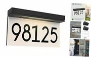 Address Plaque For Houses Solar Powered, Lighted House Numbers Address Sign,