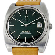 Omega Constellation Very Rare Black Spider Web Dial Automatic Mens Watch