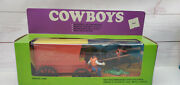 Vintage Cowboys Stage Coach Action Model Plastic Toy Doctor Samual Dogood Wagon