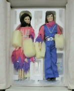 1998 Donnie And Marie Osmond Fine Porcelain Through The Years Doll Figurines Nib