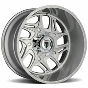 24x14 Brushed Texture Wheels American Truxx At1900 Sweep 6x5.5/6x139.7 -76 Set