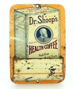 Dr. Shoop's Health Coffee Advertising Tin Litho Match Holder Display Striker Ny
