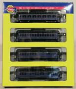 New N Scale Rtr Athearn 4 Pack - B And O Overland Passenger Car Set - 11852