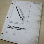 Caterpillar 215c 219 Excavator Systems Disassembly Repair Service Shop Manual