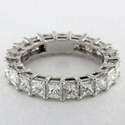 Christmas Sale Solid 18k White Gold 3 Ct Real Diamond Engagement Band Size L M N