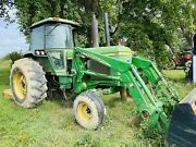 John Deere Tractor With Grass Cutter And Dozer