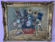 Oil Painting With Golden Picture Frame Painter Tp.martin 150 Years Old Original