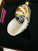 Jay Strongwater Shell Ornament Rare New In Box Crystals