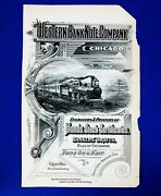 Chicago Il. Western Bank Note Co. 1880-90 Ad Sheet From Poorand039s Railroad Manual