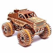 Wood Trick Monster Pickup Truck Car 3d Wooden Puzzle - Rides Up To... From Japan
