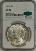1922 Peace Silver Dollar Ms66+ Ngc Cac 944269-3