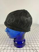 Vintage 50s Antique Motorcycle Skull Hat Cap Distressed Leather Chopper Harley