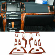 For Toyota Land Cruiser 2008-15 Wood Grain Look Interior Moulding Cover Trim Kit